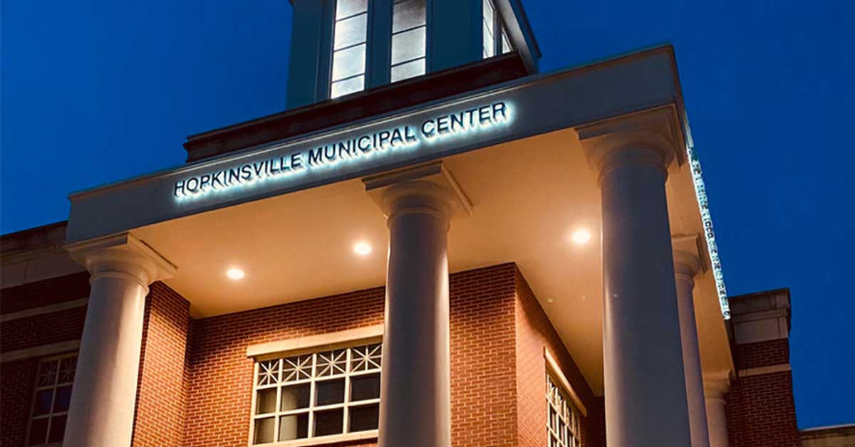 Hopkinsville-Municipal-Center_COVID-19-coronavirus-green-lights_featured