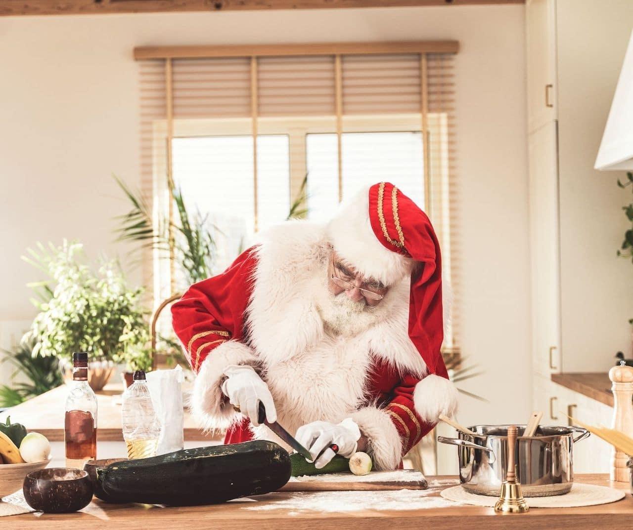 santa christmas cooking