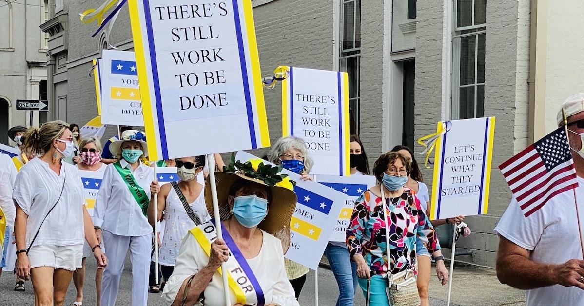 centennial march women's vote