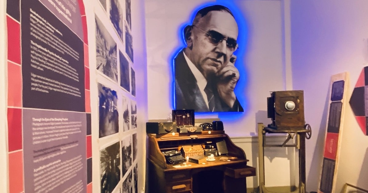 edgar cayce photo at museum